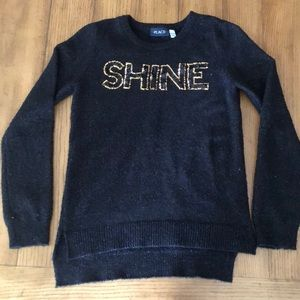 "Children's place sequin ""SHINE"" sweater"